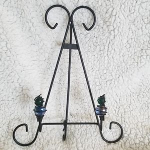 Other - Wrought Iron And Glass Display Stand